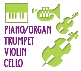 Piano/Organ, Trumpet, Violin, Cello